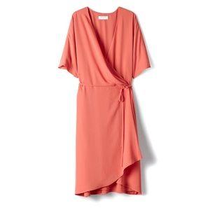 BABATON | Wallace Wrap Dress Coral Pink M